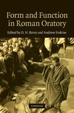 Book cover: Form and Function in Roman Oratory