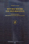Book cover: Reform before the Reformation