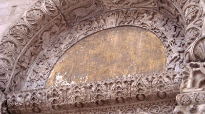 Carved stone doorway